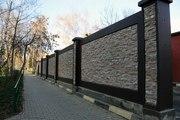 Бетонный забор под дикий камень в Москве